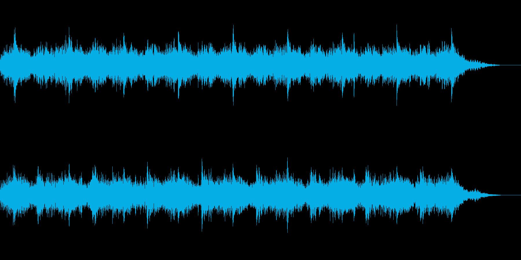 シンプルなピアノのフレーズの繰り返しですの再生済みの波形