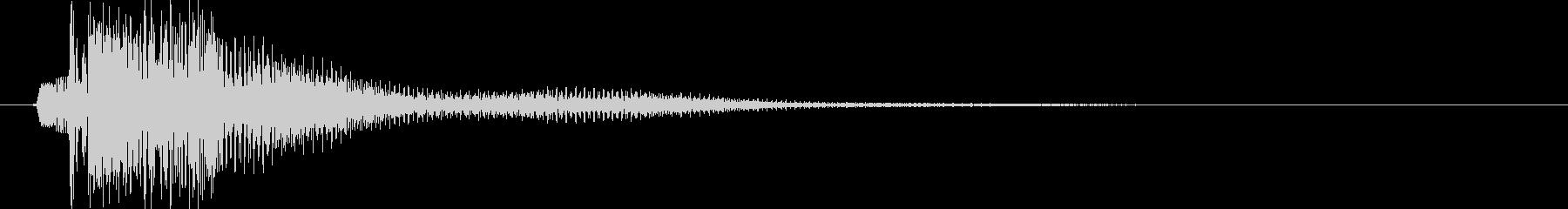ポチッ(ピローン):ボタン選択音の未再生の波形