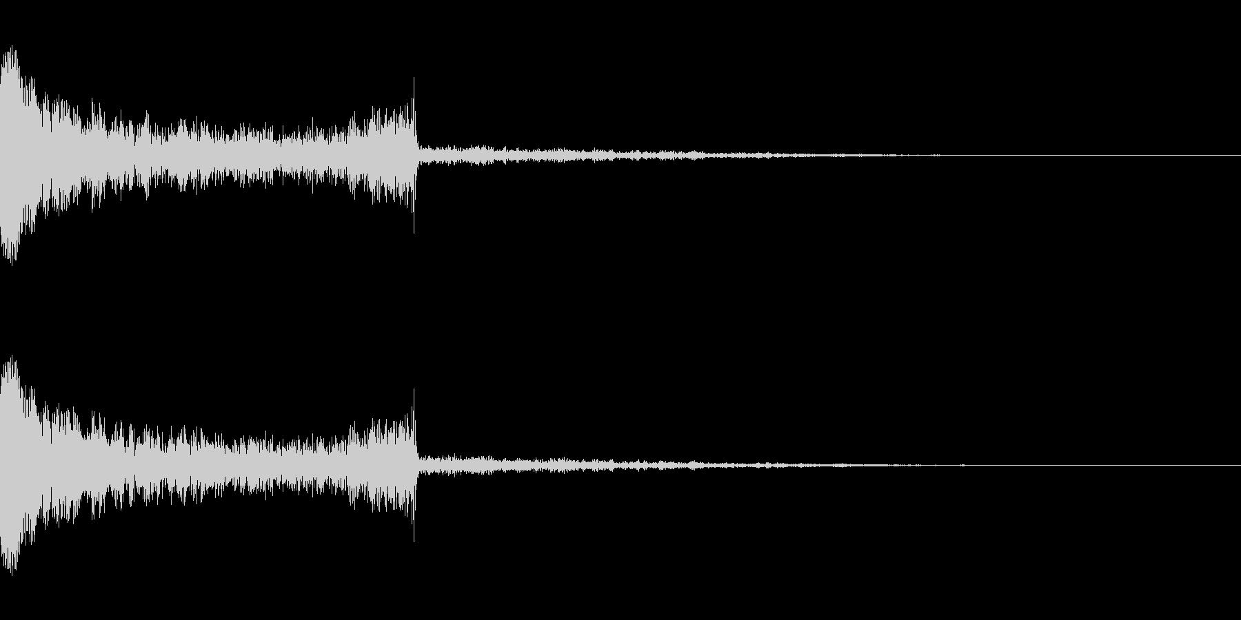 場面切り替えをイメージした衝撃音の未再生の波形