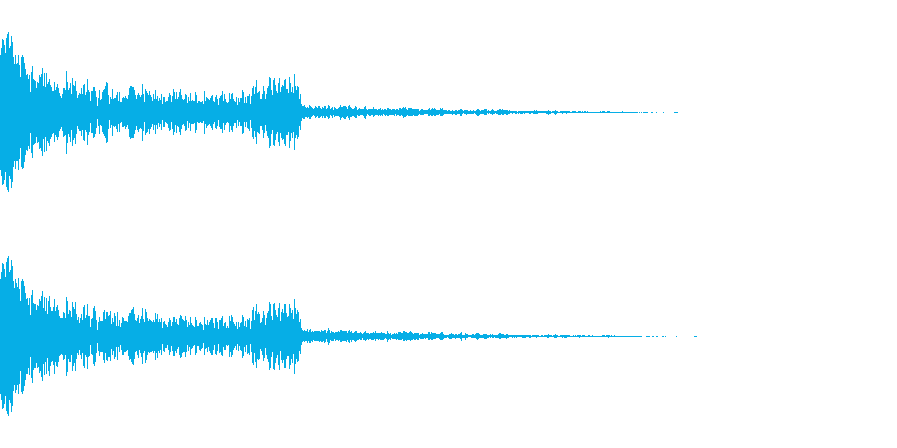 場面切り替えをイメージした衝撃音の再生済みの波形