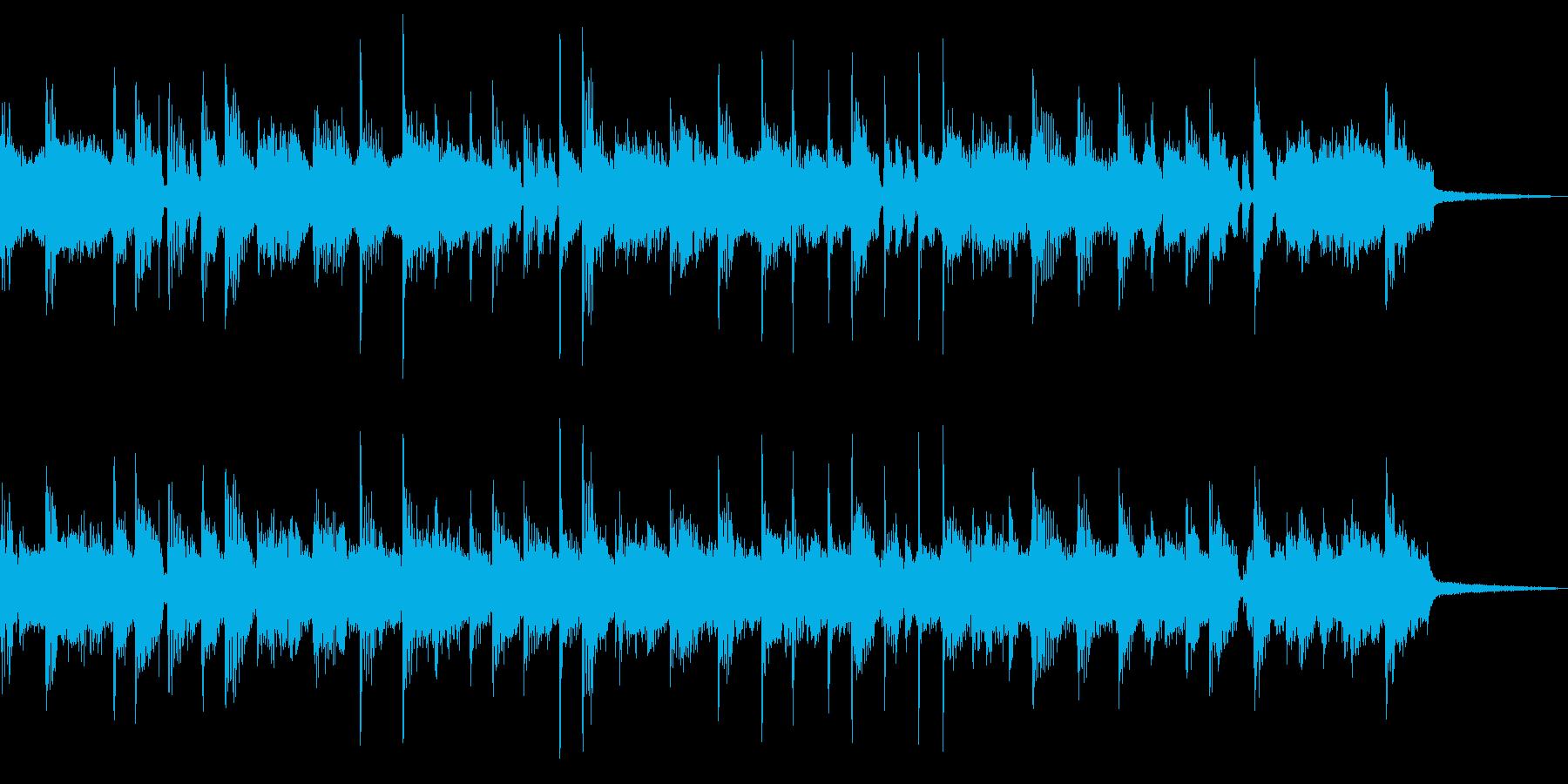 情熱なロックBGMの再生済みの波形