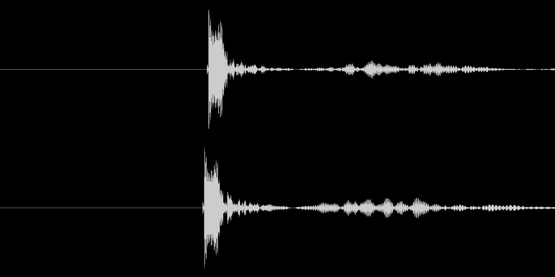 チュボー(弾が当たって火傷した音)の未再生の波形