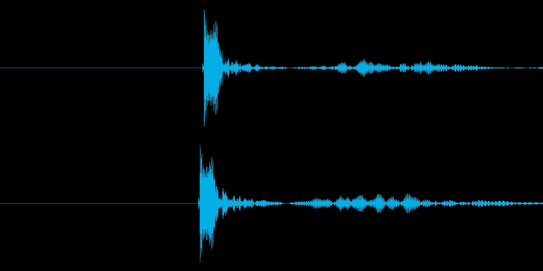 チュボー(弾が当たって火傷した音)の再生済みの波形