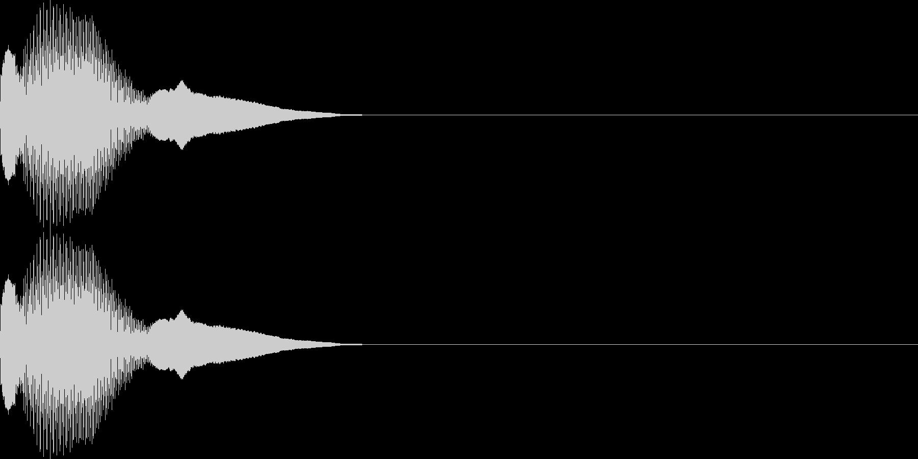 ピコ(カーソル移動、決定、ボタン押す)の未再生の波形