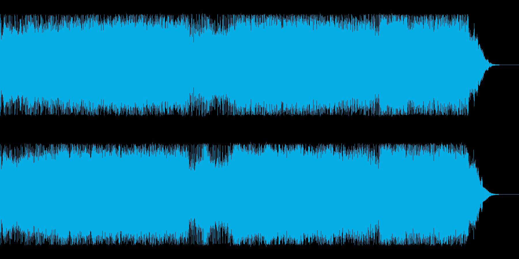 電脳世界のバトルのような激しいデジロックの再生済みの波形