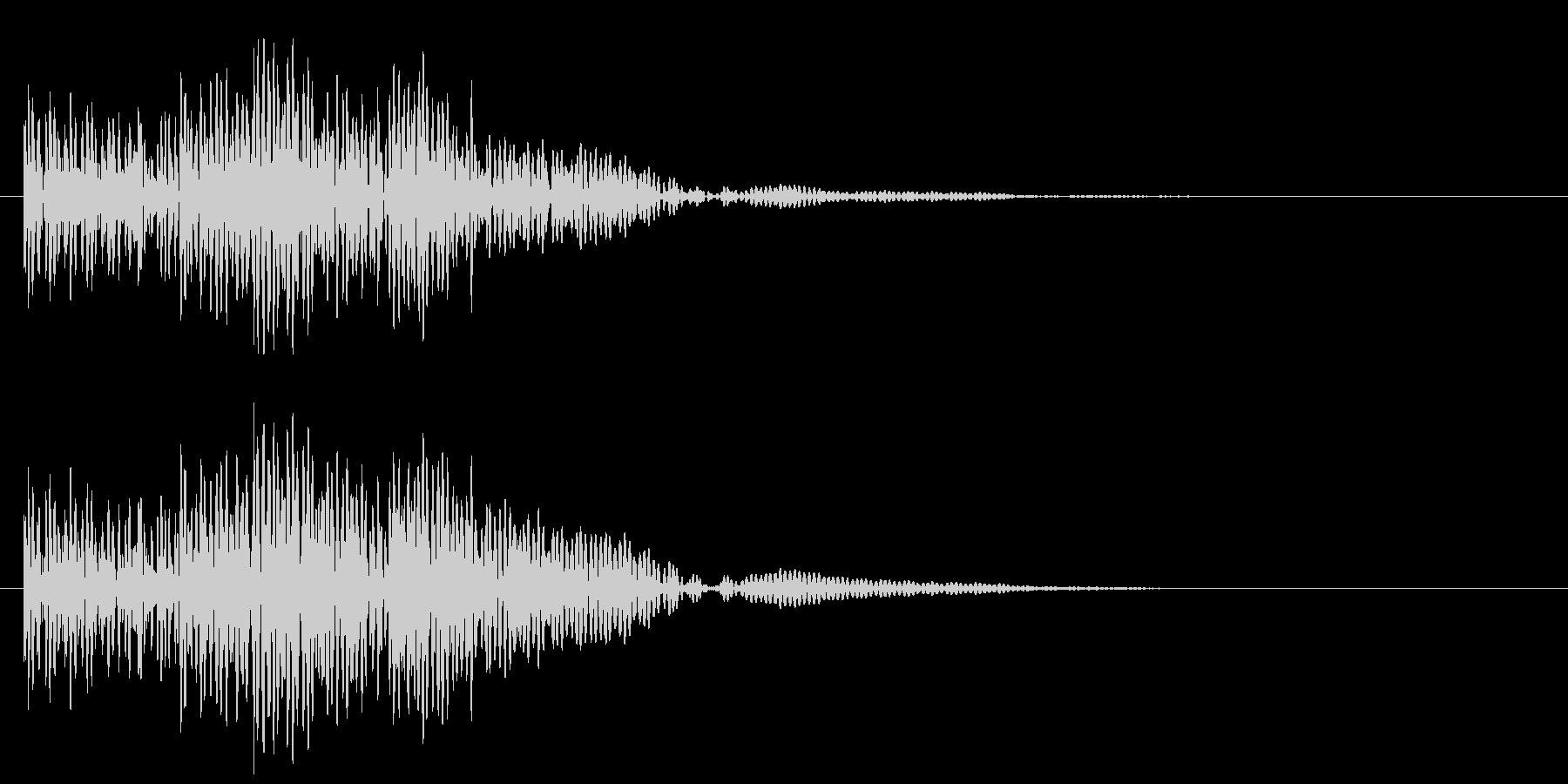 太鼓の連打 和風な転回音 場面転換の未再生の波形