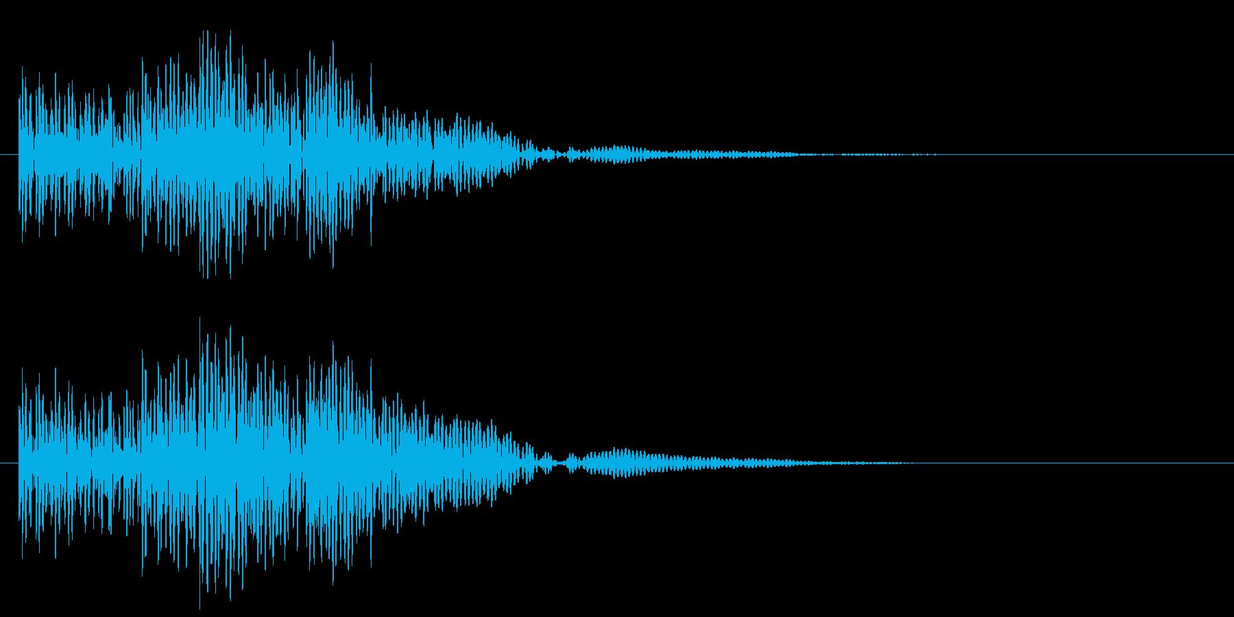 太鼓の連打 和風な転回音 場面転換の再生済みの波形