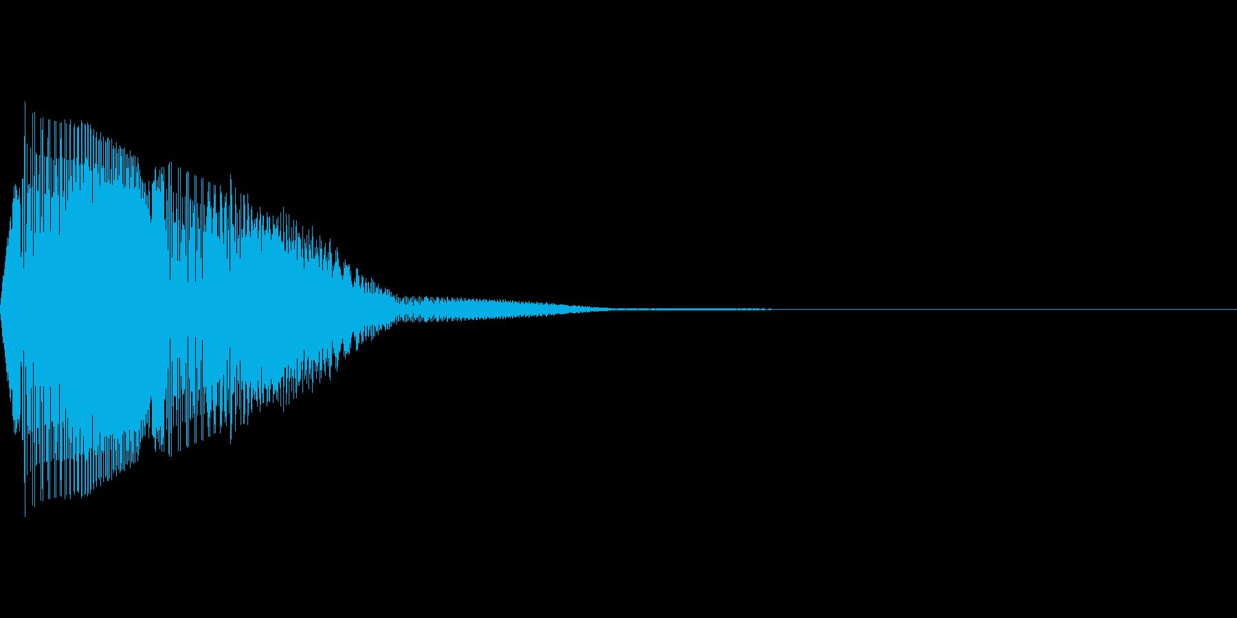 ぽわわっという弾力感のある音で、ボタン…の再生済みの波形