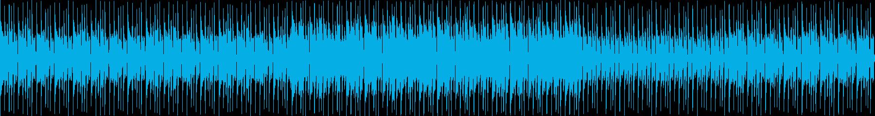 レースゲームのメニュー画面を想定した曲の再生済みの波形