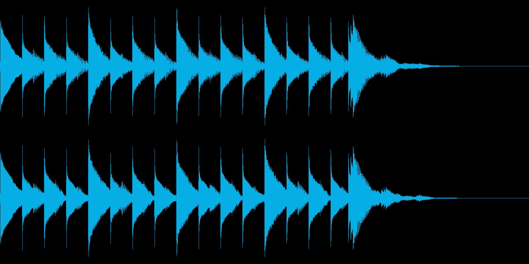 サウンドロゴ、ジングルです。時計(時間…の再生済みの波形