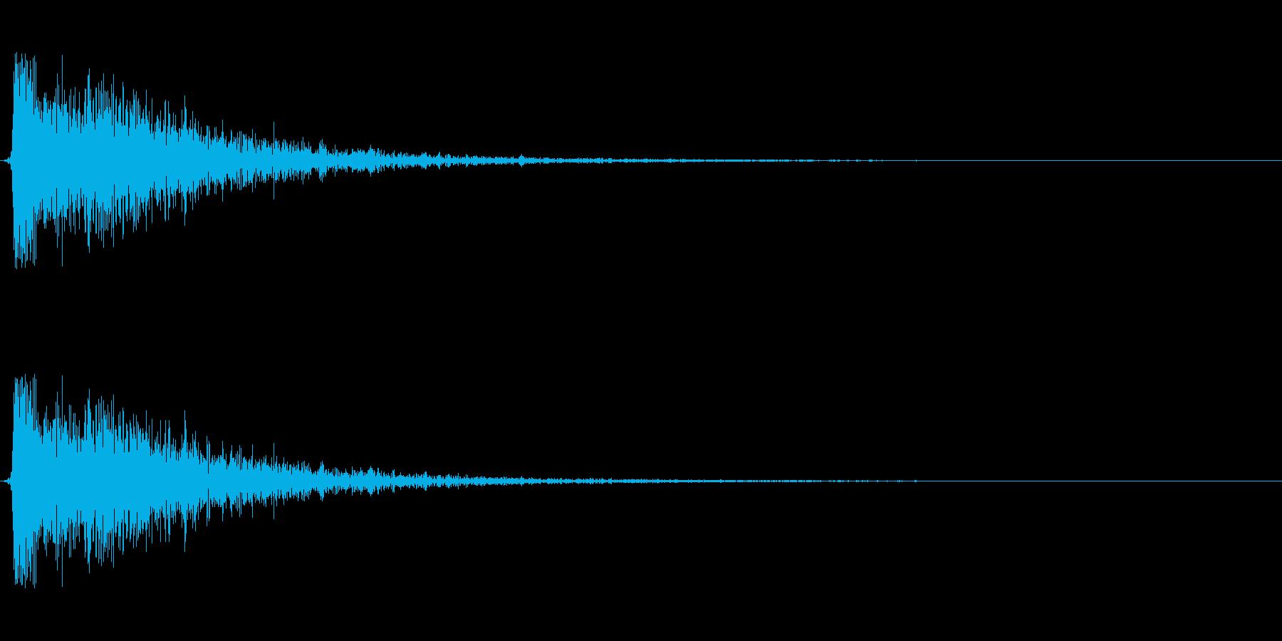 【衝撃04-1】の再生済みの波形