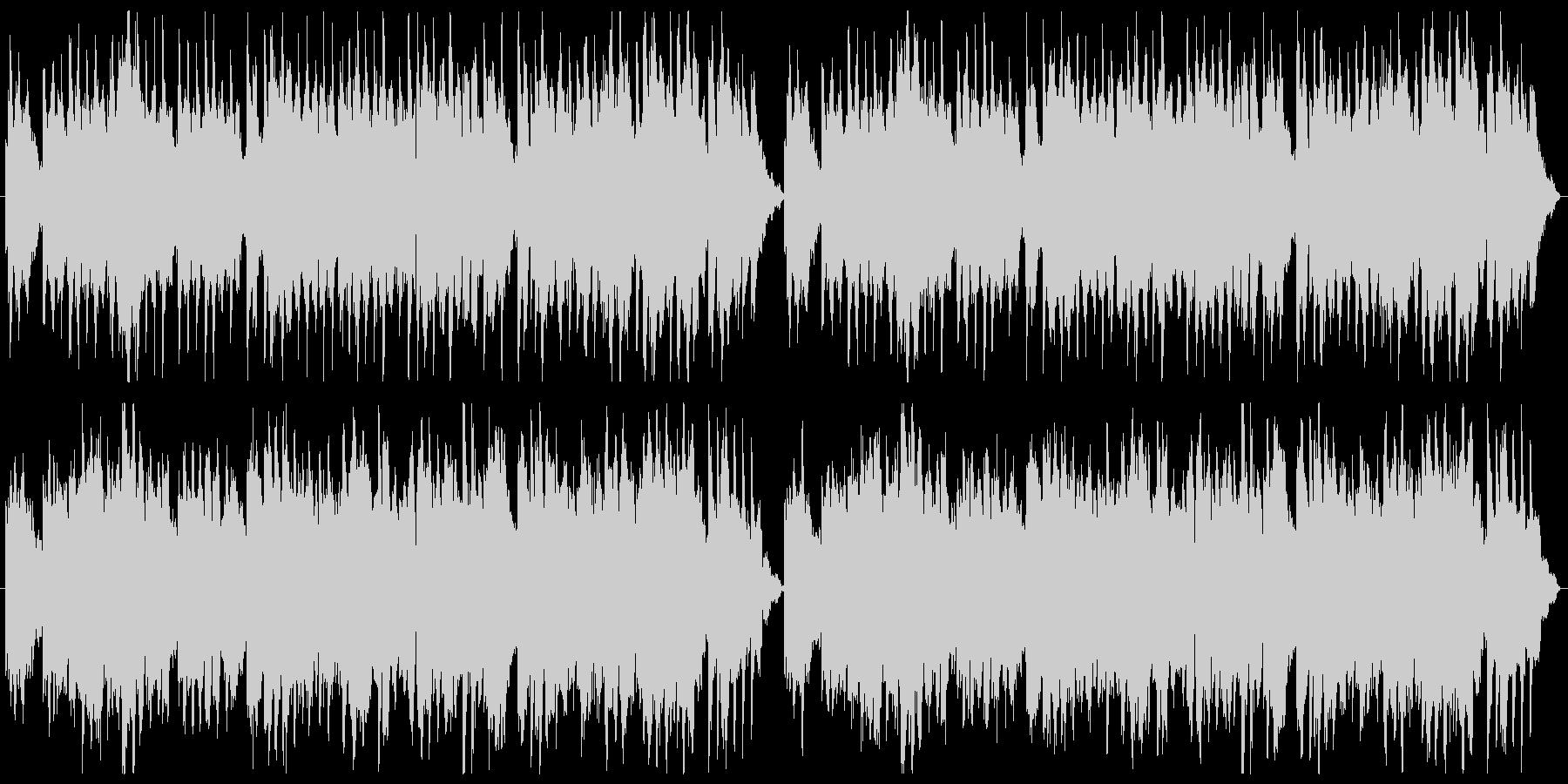ふんわりとしたやさしいBGMの未再生の波形
