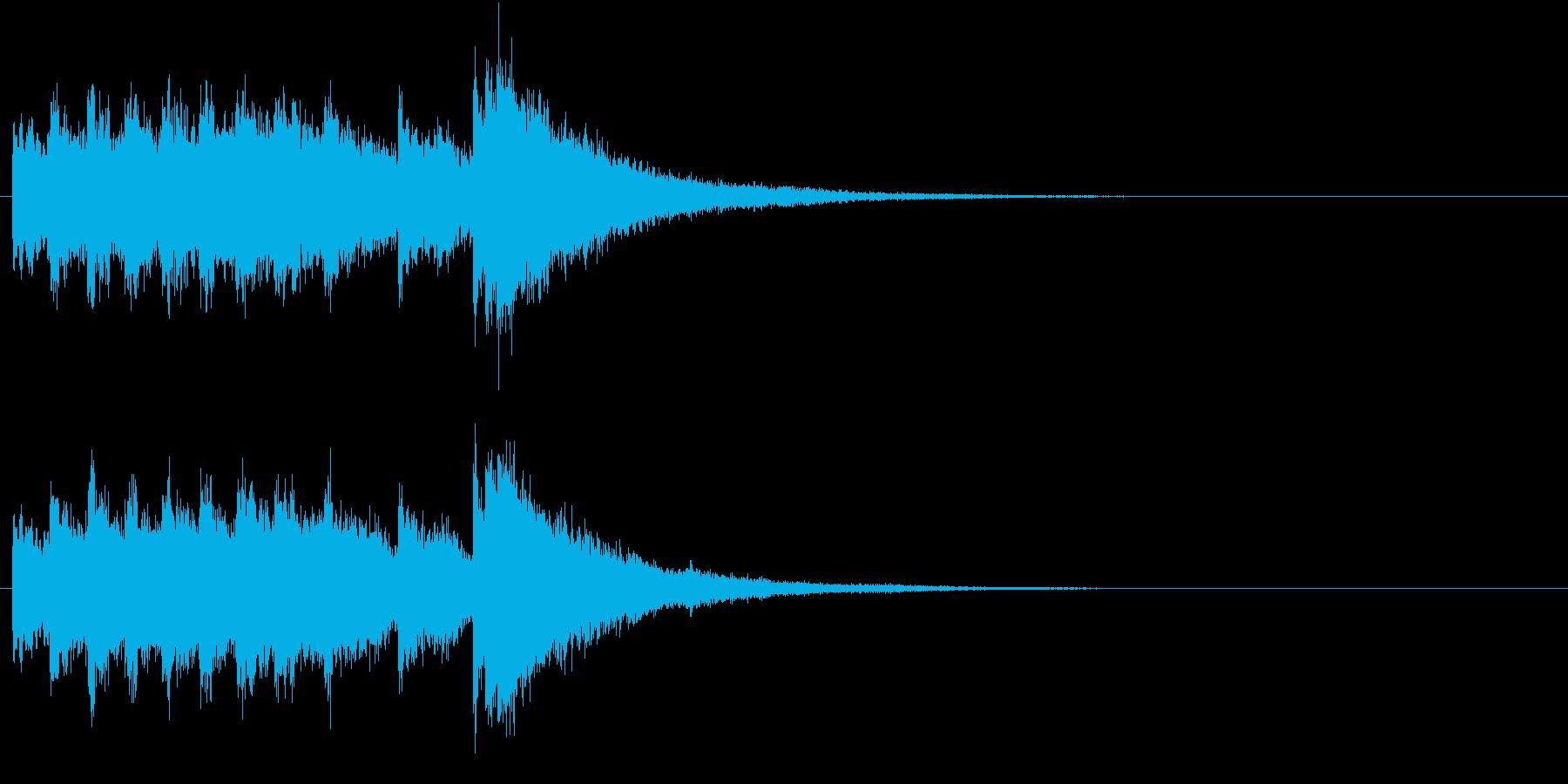 電車の発車・到着ジングル-01(7秒)の再生済みの波形