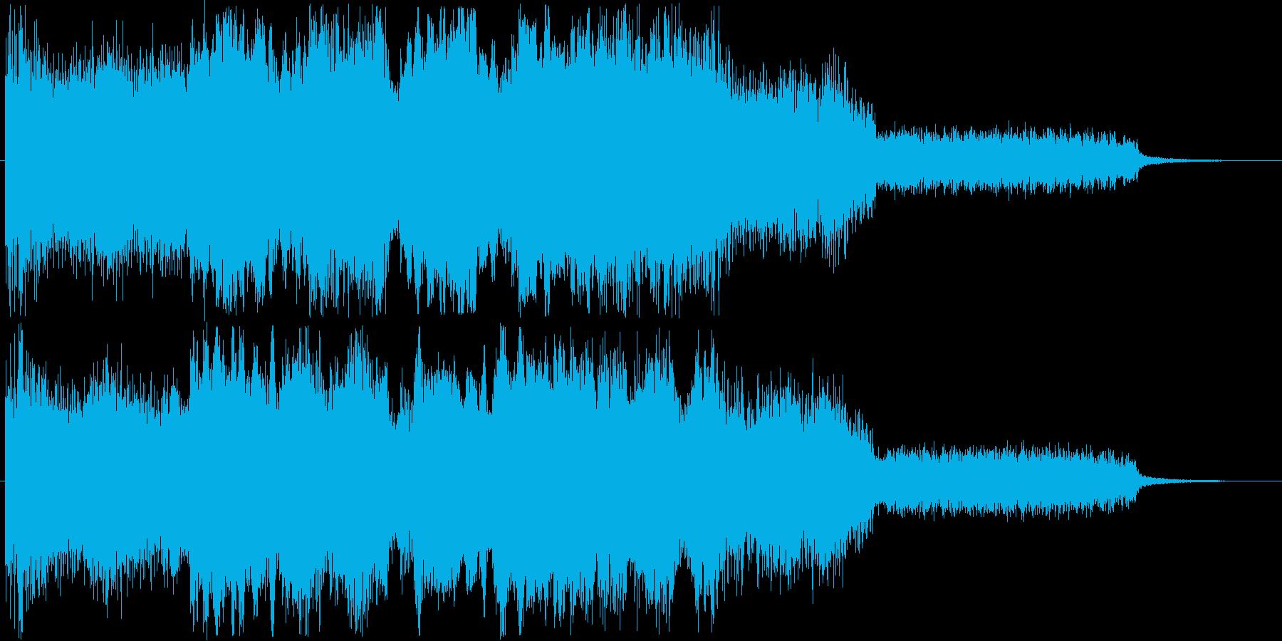 勇猛なイメージのオーケストラの再生済みの波形