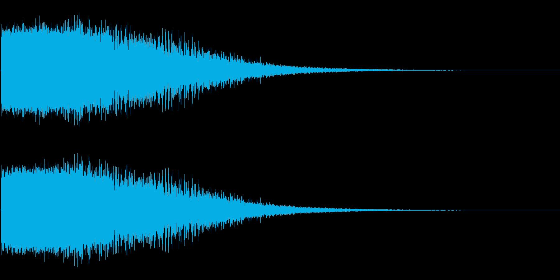 ダメージ音02(魔法・電子系)の再生済みの波形