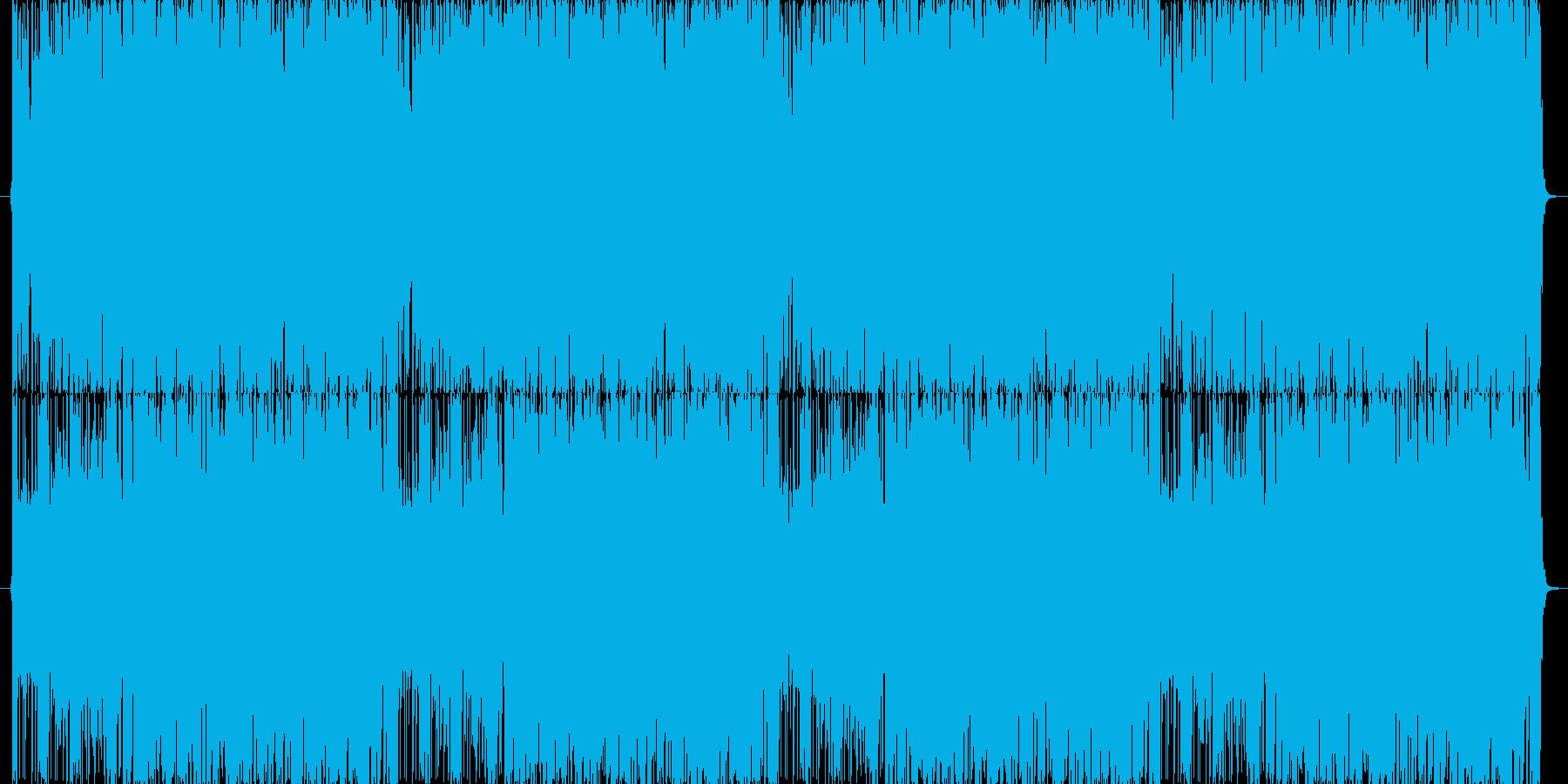ファンキーなエレキと動くベースラインの再生済みの波形