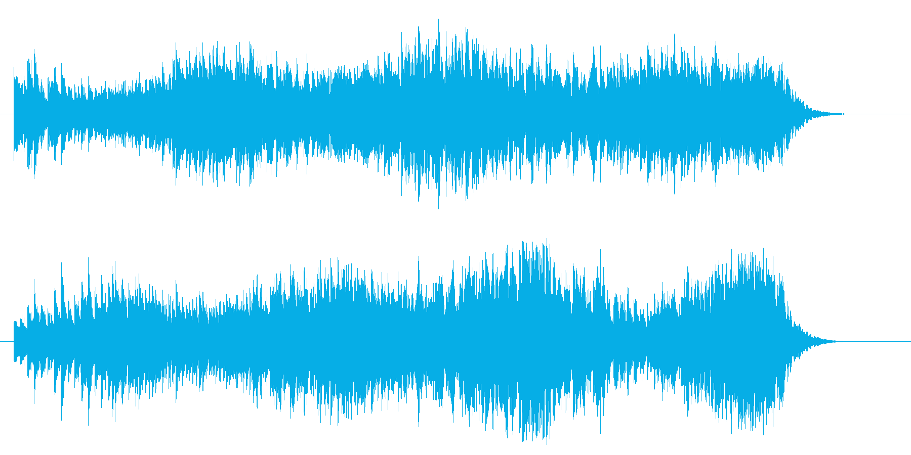 ジングルに最適なキラキラした効果音の再生済みの波形