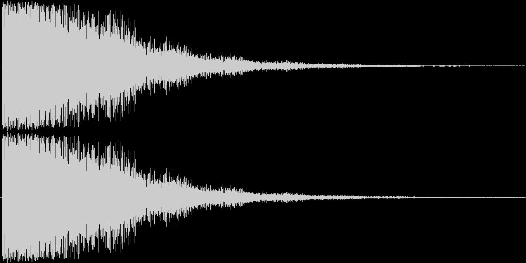 短い銅鑼の音2の未再生の波形