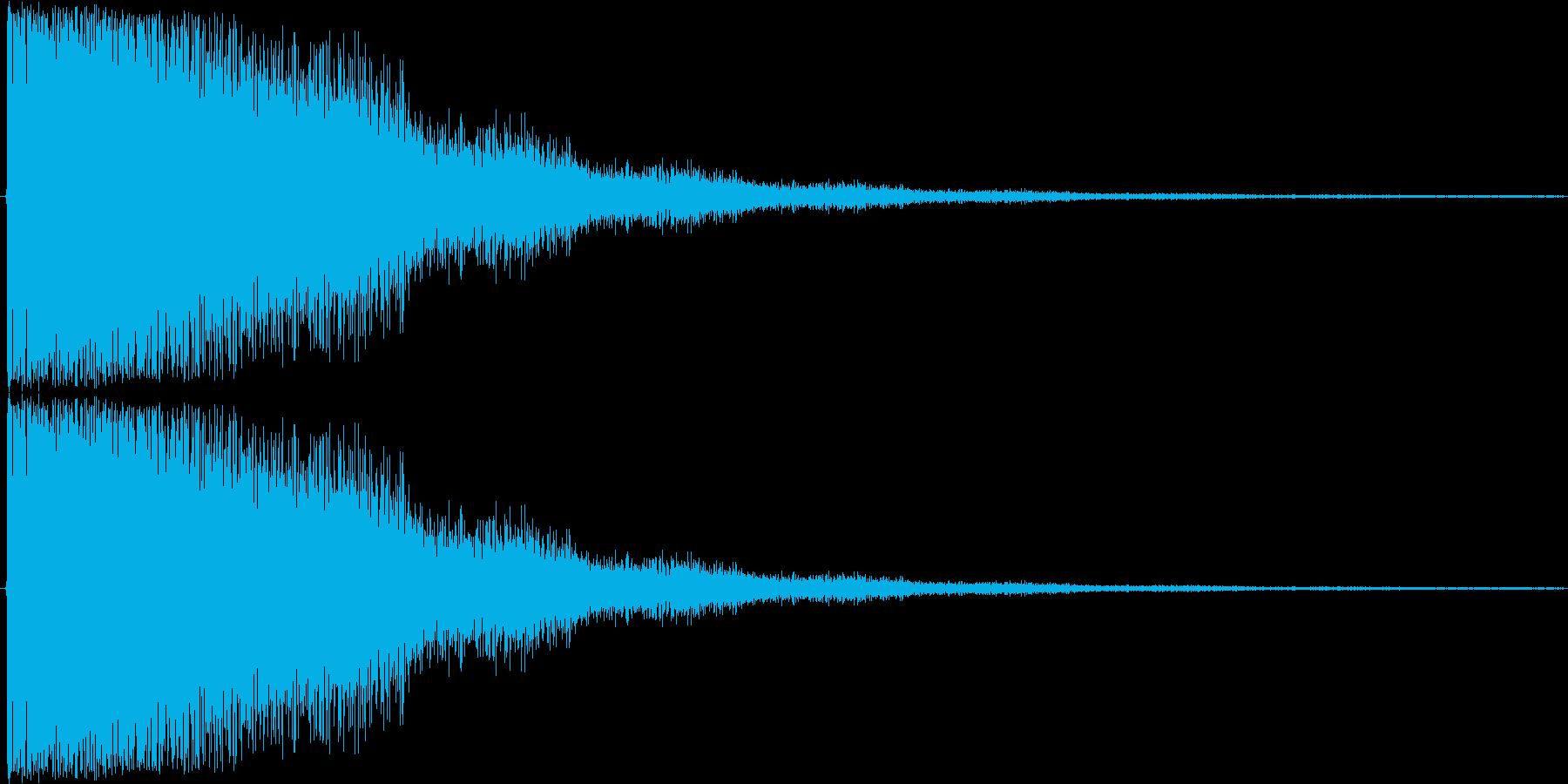 短い銅鑼の音2の再生済みの波形