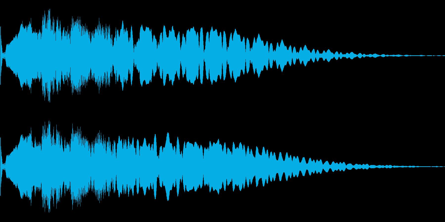 キュイーン。ほんの少しだけ長め、余韻ありの再生済みの波形