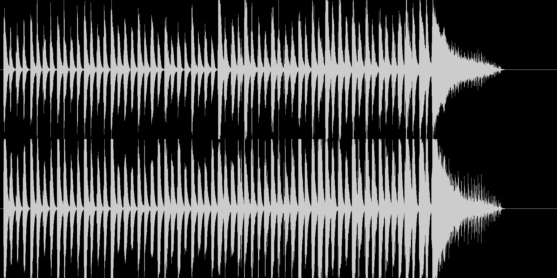 ピアノとパーカッションのほのぼのとした曲の未再生の波形