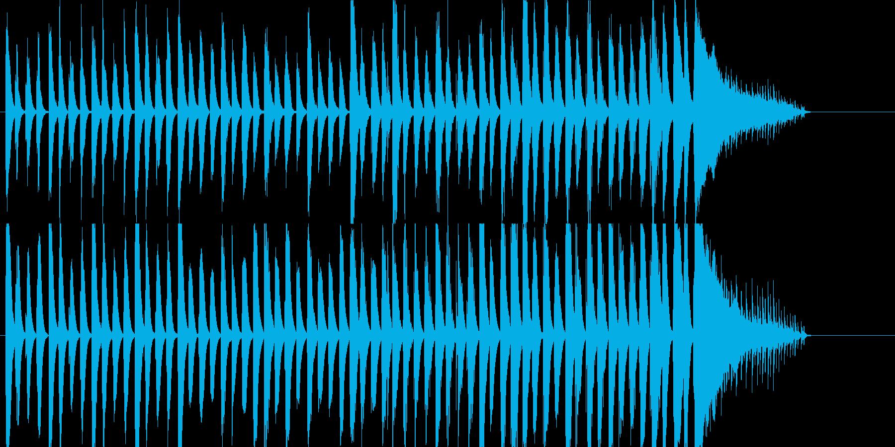 ピアノとパーカッションのほのぼのとした曲の再生済みの波形