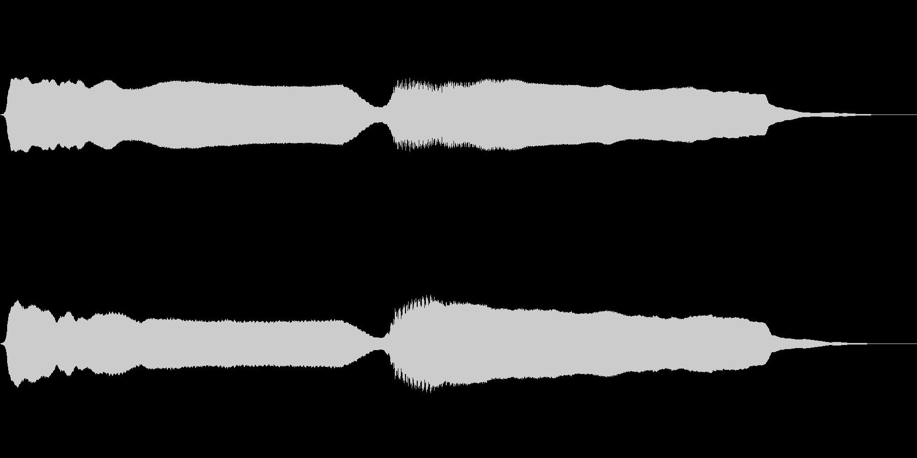 昭和の懐かしい豆腐屋さん と~ふ~の未再生の波形