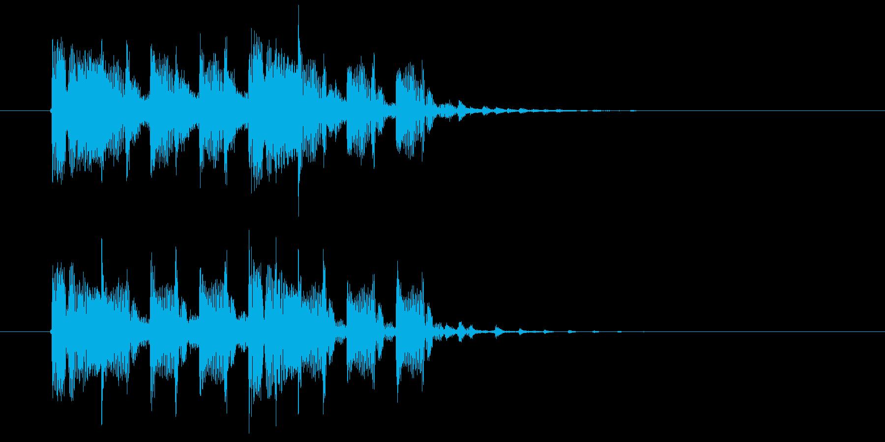 神秘的でリズミカルなテクノポップジングルの再生済みの波形