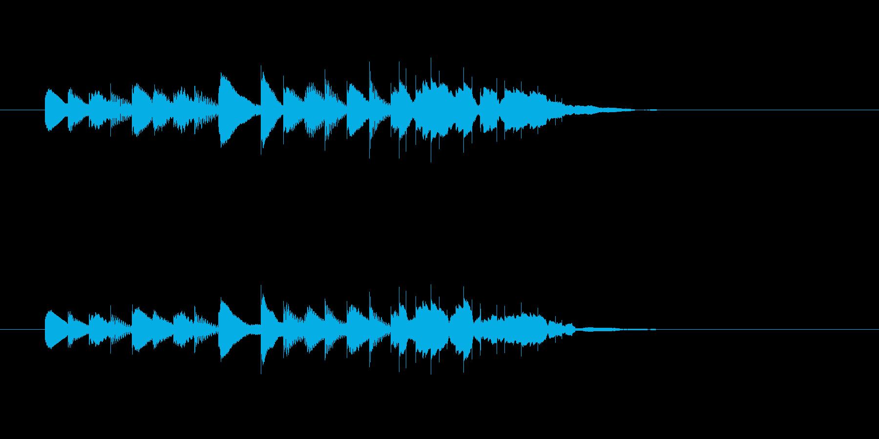 ピポパポン・・(明るく楽しい木琴音)の再生済みの波形