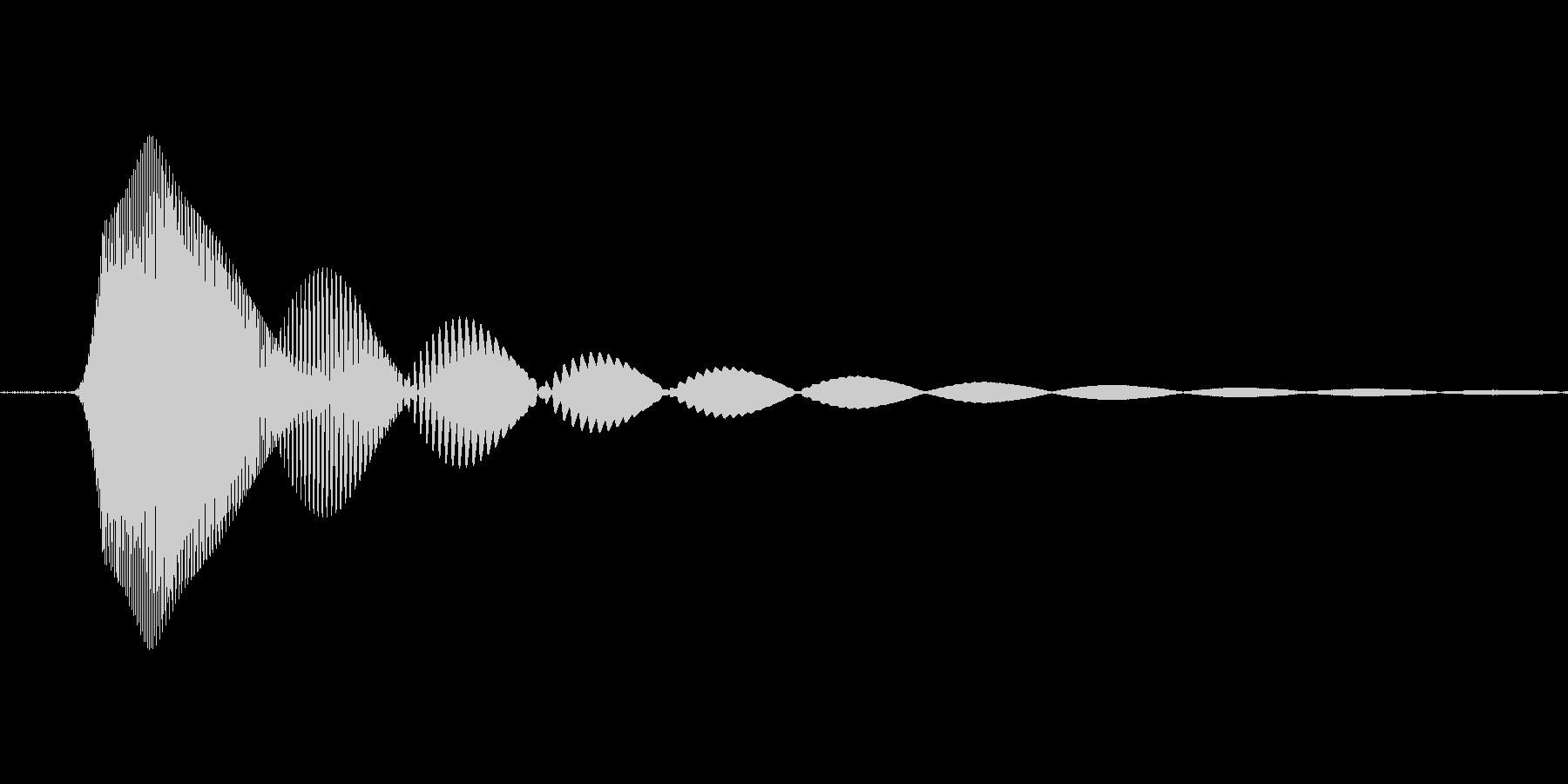 シンセで作った犬の未再生の波形