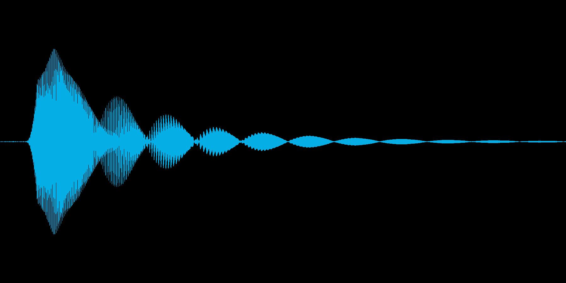 シンセで作った犬の再生済みの波形