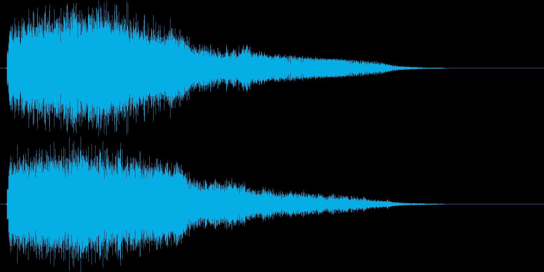 強_ジャキーン系_告知音系_02の再生済みの波形