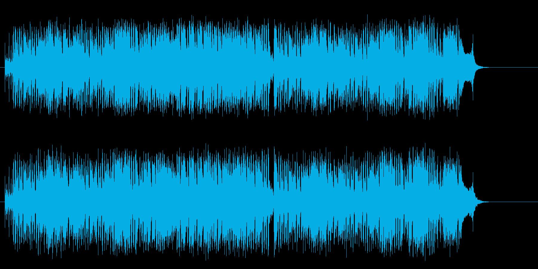 軽い陽気なデキシー・ランド風のポップスの再生済みの波形