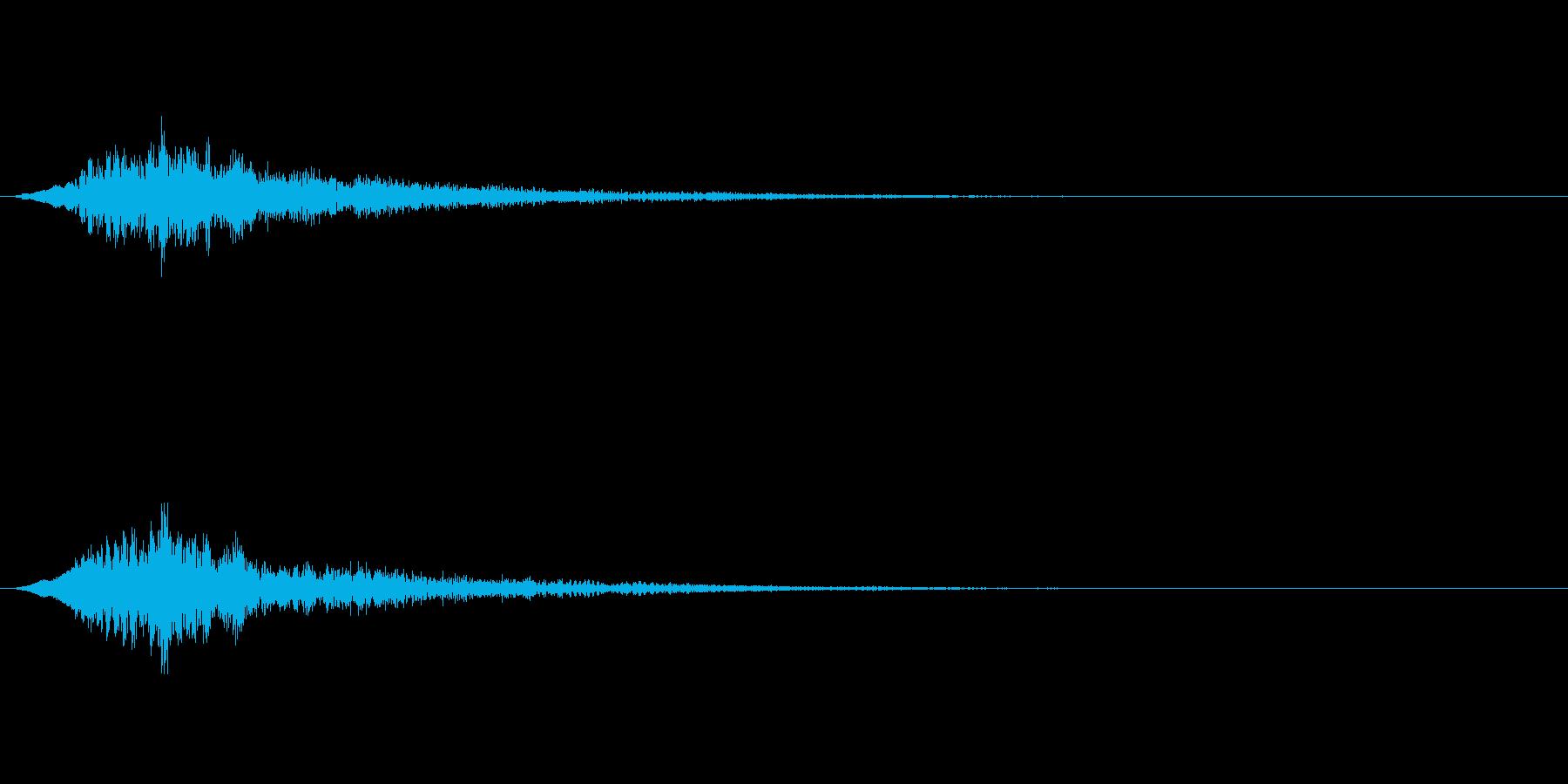 ゲームなどの決定音ですの再生済みの波形