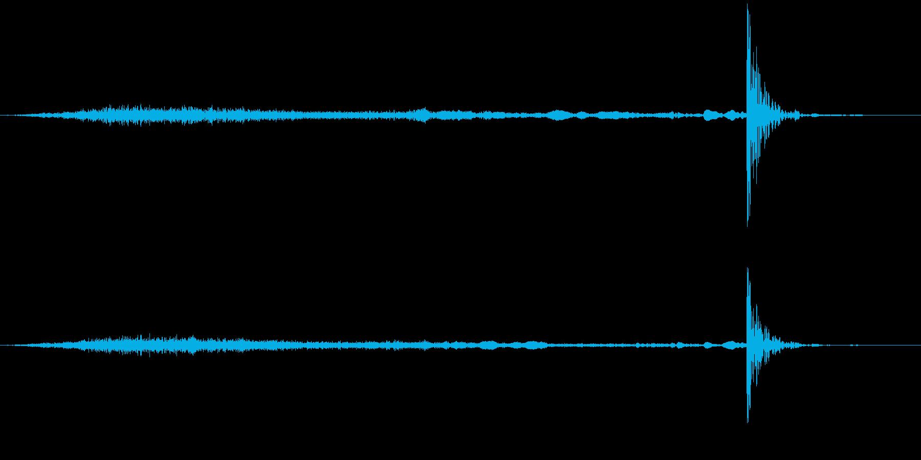 引き出しを閉めるの再生済みの波形