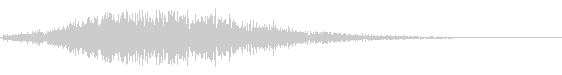 ショロロローン(下降していく効果音)の未再生の波形