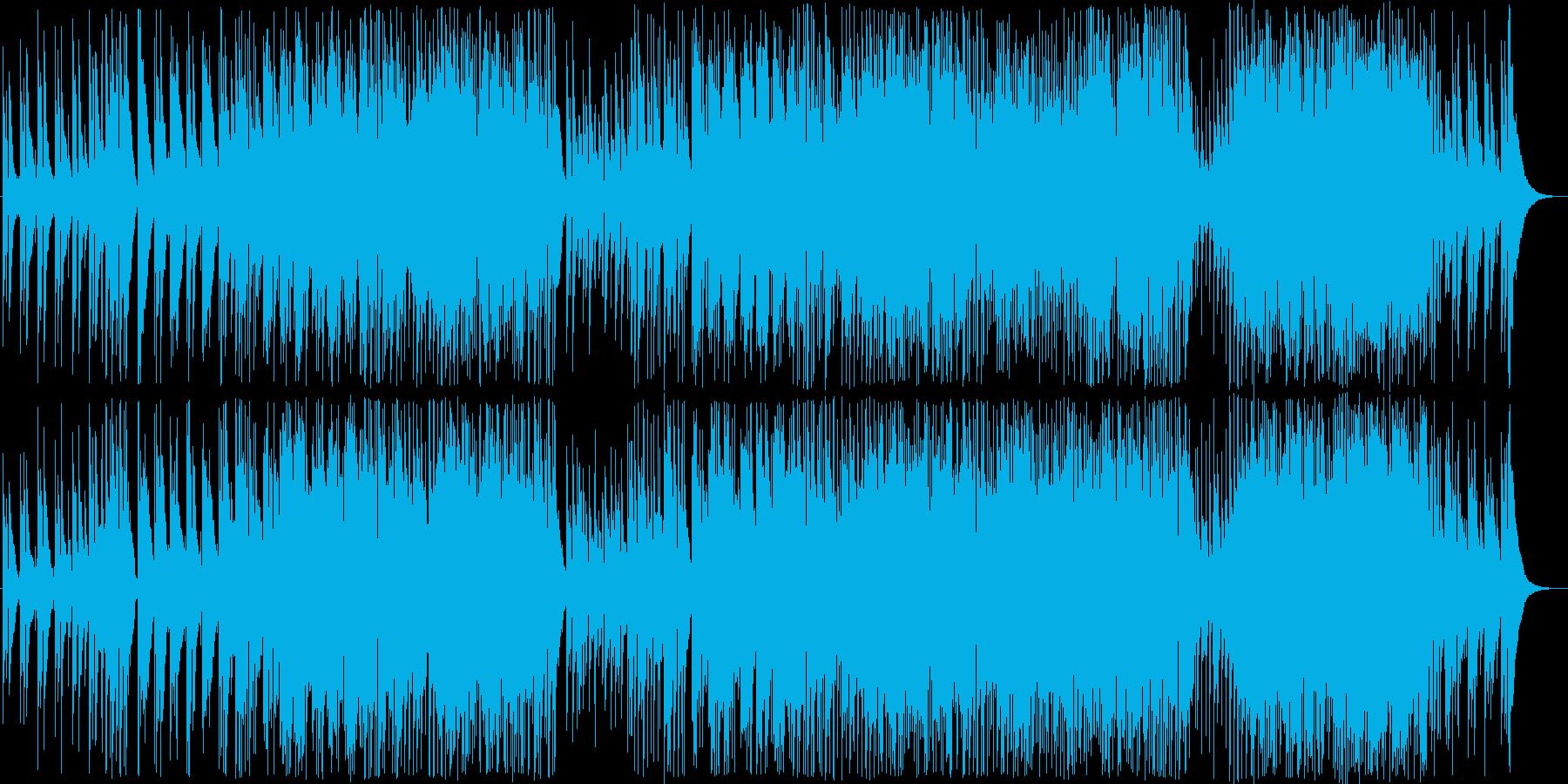 和風で神秘的な曲の再生済みの波形