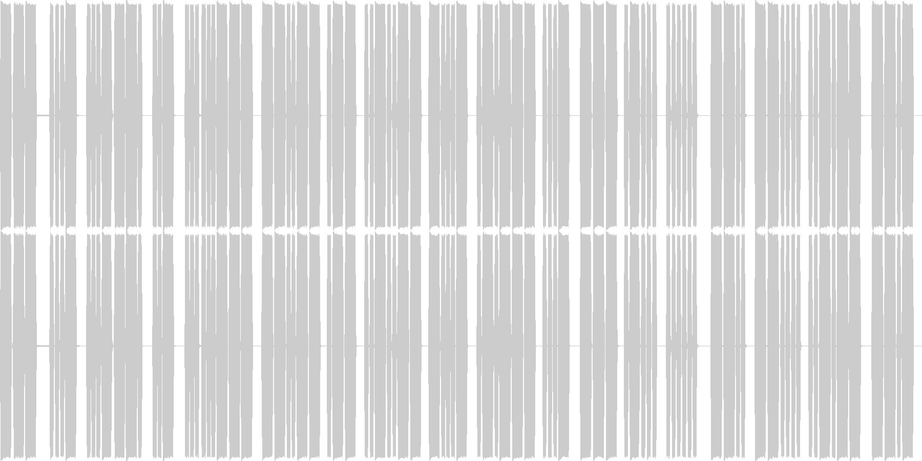 モールス信号の未再生の波形
