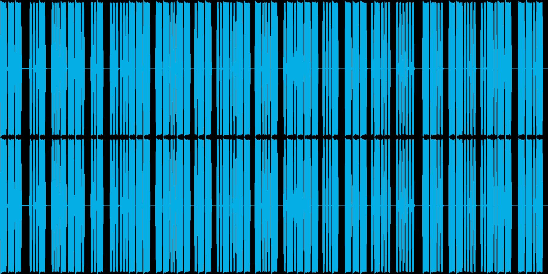 モールス信号の再生済みの波形