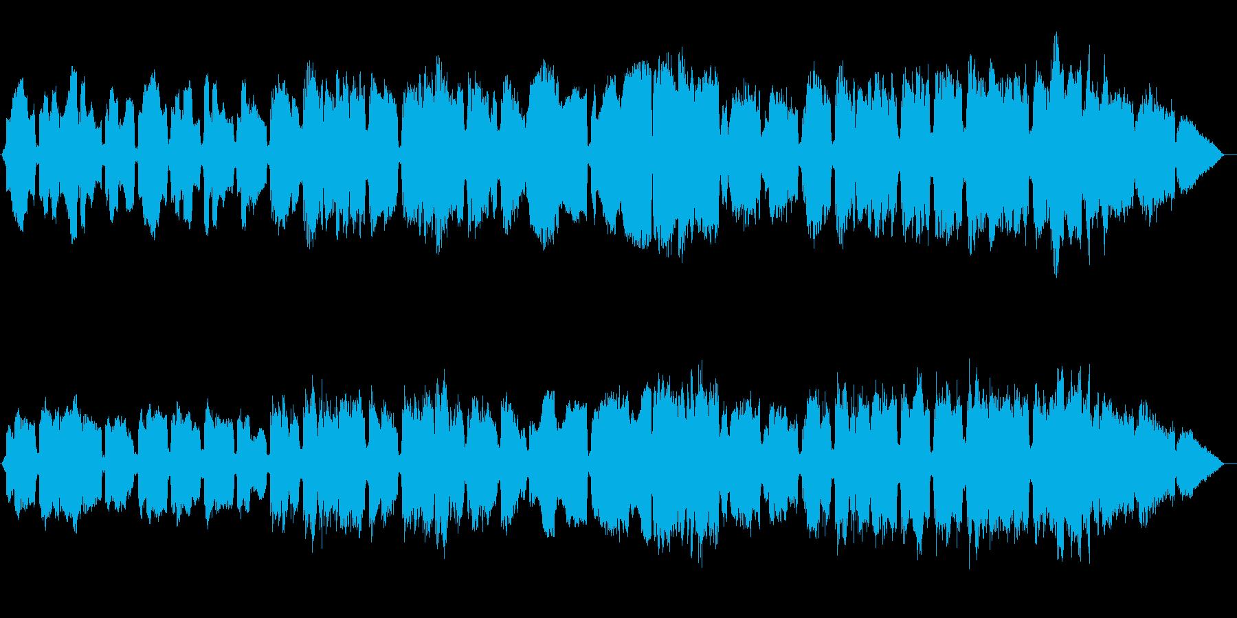 心温まるゆったりしたほのぼの、癒しの曲の再生済みの波形