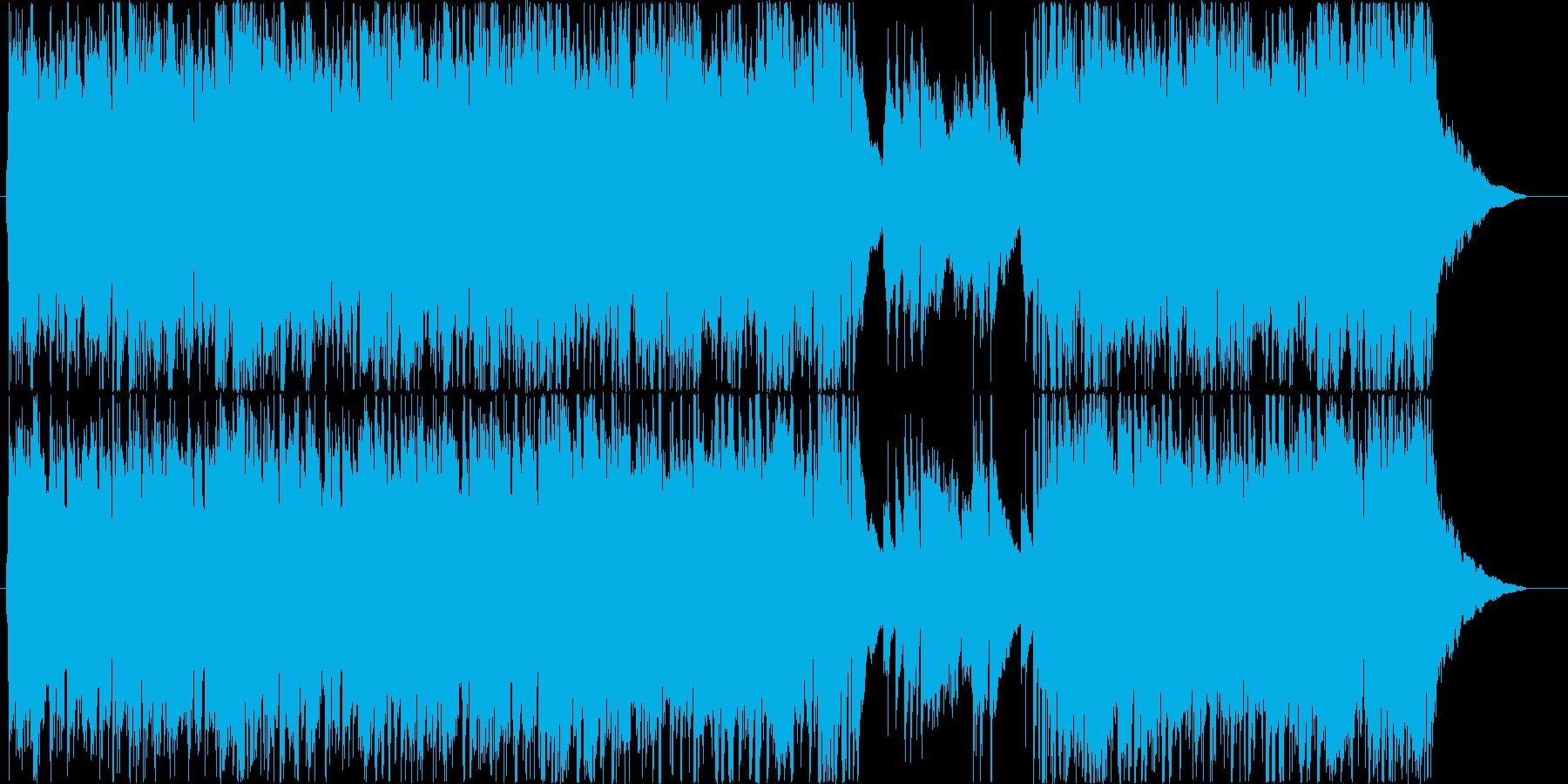 疾走感のあるピアノトリオ曲の再生済みの波形