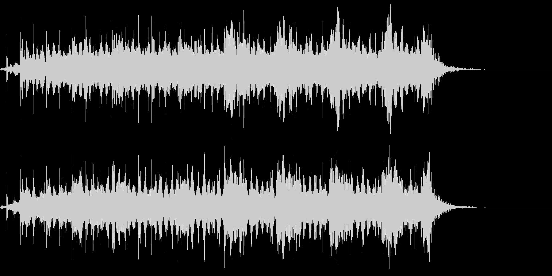 不穏なBGMの未再生の波形