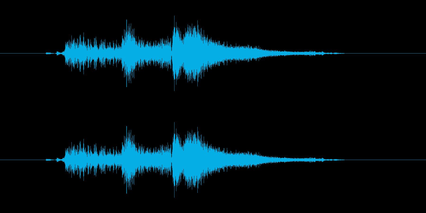 攻撃音(刀)の再生済みの波形