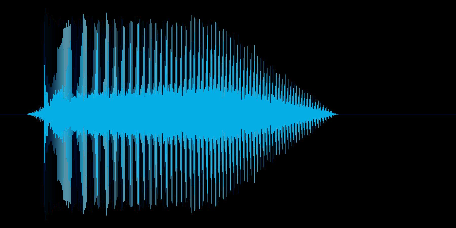 ゲーム(ファミコン風)レーザー音_015の再生済みの波形