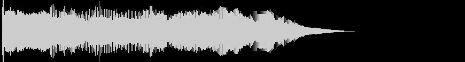 ブーンと機械的EDMのようなブザー音の未再生の波形