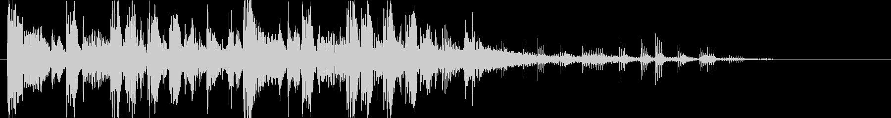 重低音&パワフルなエレクトロニックロゴの未再生の波形