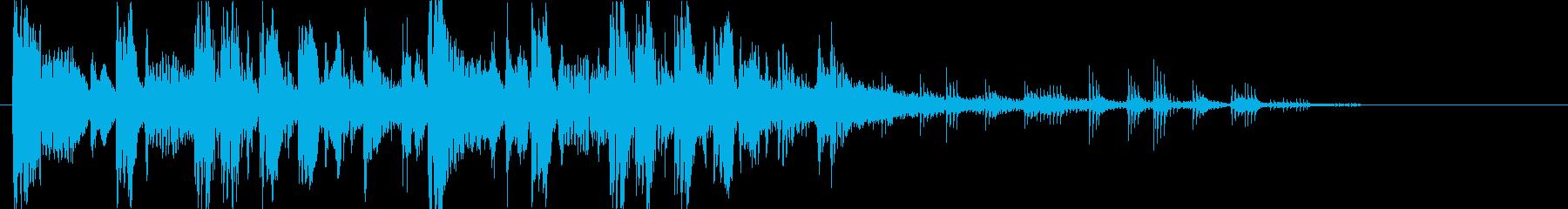 重低音&パワフルなエレクトロニックロゴの再生済みの波形