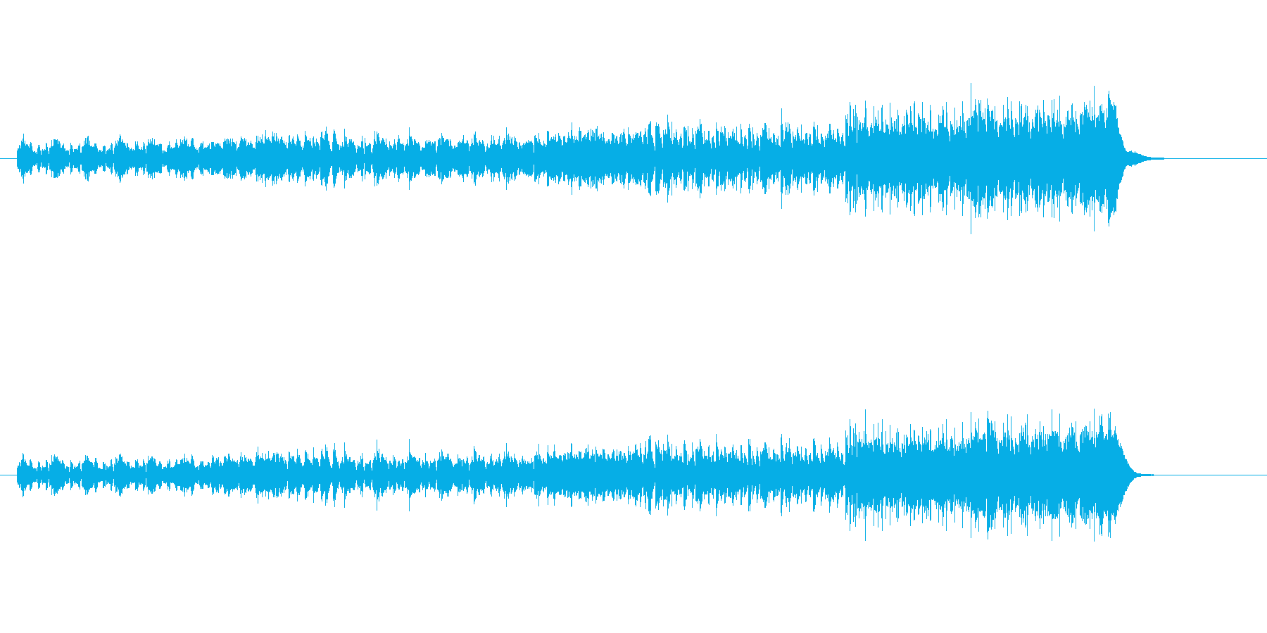 コミカルなエレクトリック・ポップスの再生済みの波形