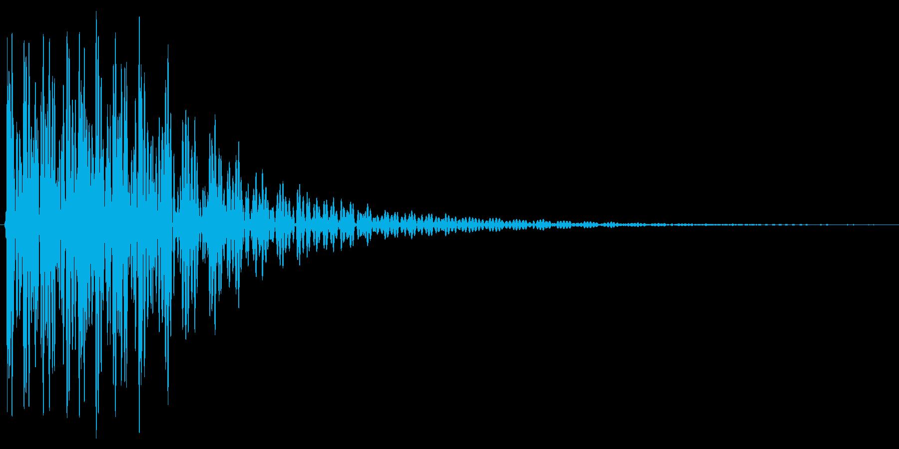 ドドン。太鼓・テロップ音の再生済みの波形