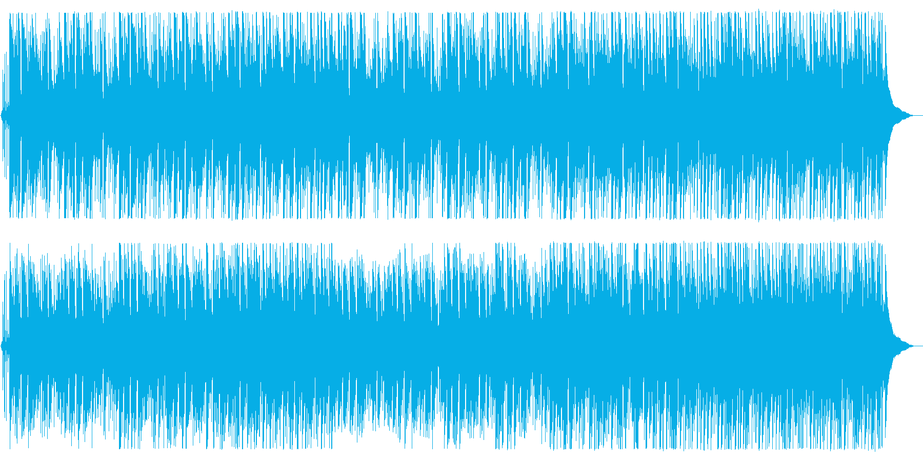 イージーリスニング寄りなボサノバBGMの再生済みの波形